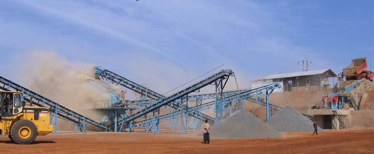 时产200吨石灰石生产线,时产300吨白云岩生产线现场02