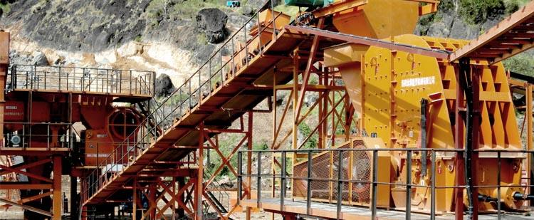 时产600吨石灰石生产线,时产800吨白云岩生产线现场01