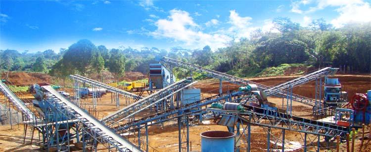 时产1000吨石灰石生产线,时产1000吨白云岩灰石生产线现场01
