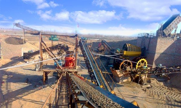 时产60吨花岗岩生产线,时产100吨玄武岩生产线现场案例02