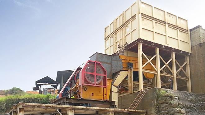 印度尼西亚某公司300吨每小时建筑用骨料生产线现场1