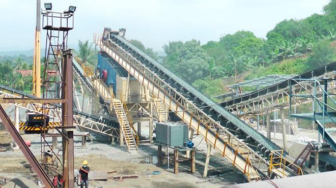 印度尼西亚某公司300吨每小时建筑用骨料生产线3