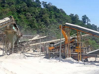 马来西亚建筑骨料用移动式破碎筛分生产线