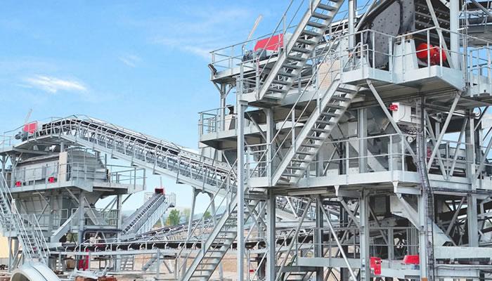 法国里昂时产450吨建筑用碎石骨料生产线01
