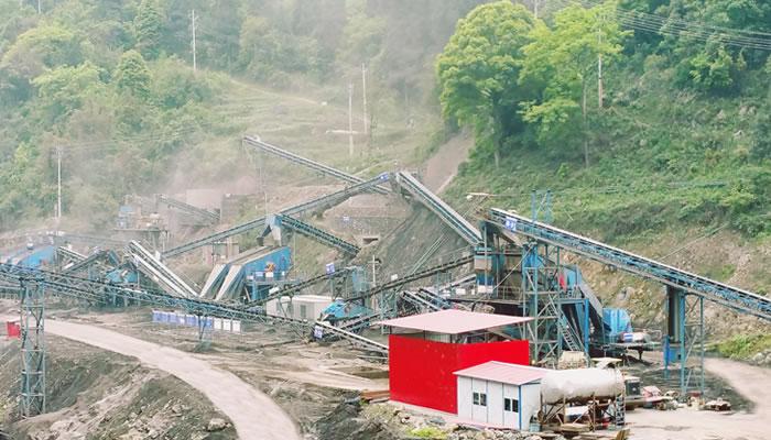重庆浩口水电站砂石骨料加工生产线02