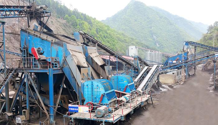 重庆浩口水电站砂石骨料加工生产线01