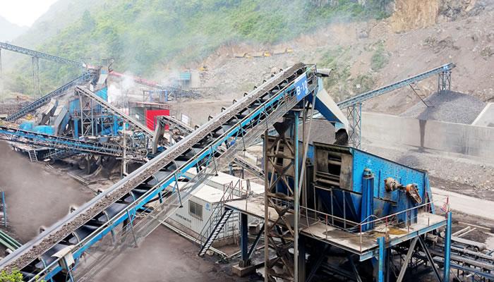重庆浩口水电站砂石骨料加工生产线03