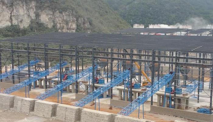云南蒙自时产2000吨建筑用砂石骨料生产线01