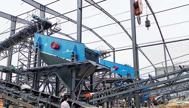 大华设备时产200吨砂石生产线在洛宁县启动
